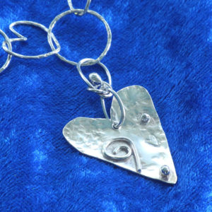Ornate Silver Heart Necklace